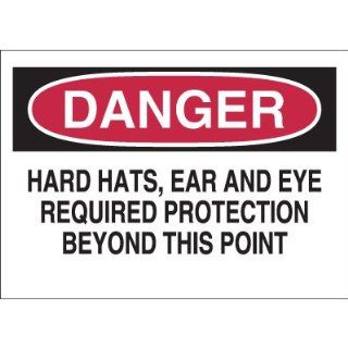 Emedco Fiberglass Required Equipment Sign, Black / Red / White Industrial Warning Signs