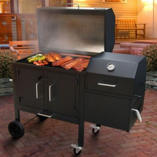 Landmann Black Dog 42XT Charcoal Grill & Smoker   Charcoal Grills