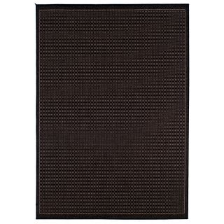 Couristan Recife Saddle Stitch Indoor/Outdoor Area Rug   Black/Cocoa   Area Rugs