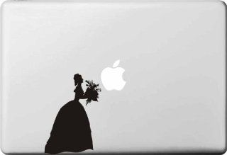 "Black and White Flower Girl Macbook Decal Mac Apple Skin Sticker Macbook Pro and Macbook Air Sticker Fit for Macbook Pro 13"" and 15"" Mac Sticker Mac Decal Macbook Sticker Macbook Decal"