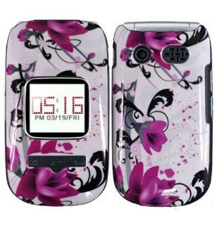 Purple Lily Hard Case Cover for Pantech Breeze 2 P2030 Cell Phones & Accessories