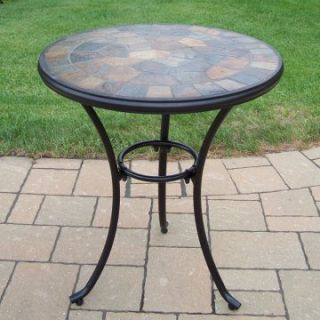 Oakland Living Stone Art 24 in. Patio Bistro Table   Patio Tables