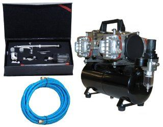 MASTER Airbrush Model SB84 Pro Set Airbrushing System with AirBrush Depot TC 848 Four Cylinder Piston Air Compressor