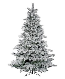Flocked Aspen Unlit Christmas Tree   Christmas Trees