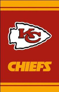 NFL Kansas City Chiefs Fiber Optic Garden Flag   Red/Gold  Sports Fan Outdoor Flags  Sports & Outdoors