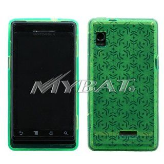 Motorola Droid A855 Dr Green Snowflake Candy Skin Cover Silicone/Gel/Soft/Cover/Case Cell Phones & Accessories