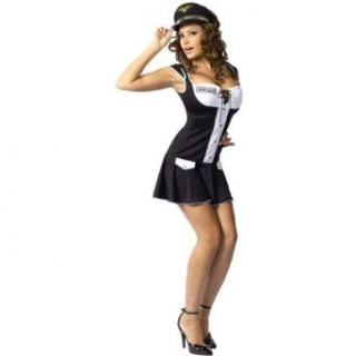 Womens Pilot Costume Black Captain Dress Sexy Costumes Clothing