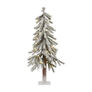 Alaskan Flocked Pre Lit LED Table Top Christmas Tree   Christmas Trees
