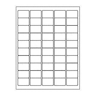 "(6 SHEETS) 300 1""x1 1/2"" BLANK WHITE STICKERS FOR INKJET & LASER PRINTERS ~ SIZE 8 1/2""X11"" STANDARD SHEETS  Printer Labels"