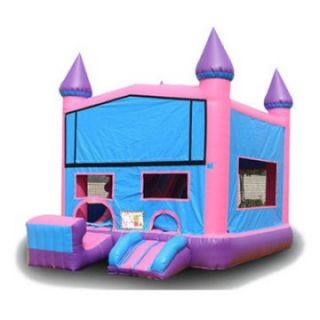 EZ Inflatables Pink Castle Module Combo Bounce House   Commercial Inflatables