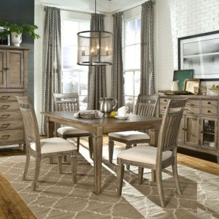 Legacy Brownstone Village 5 Piece Dining Table Set with Slat Back Chairs   Dining Table Sets
