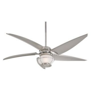 Minka Aire F579 L BNW Magellan 60 in. Indoor / Outdoor Ceiling Fan   Brushed Nickel   Outdoor Ceiling Fans