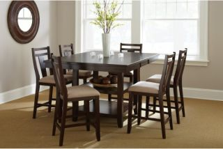 Steve Silver Munich 7 Piece Counter Height Dining Table Set   Espresso   Dining Table Sets