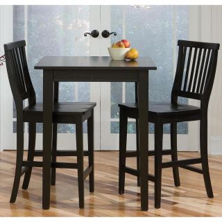 Home Styles Arts & Crafts 3 Piece Counter /Pub Table Set   Ebony   Pub Tables