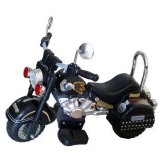 Merske Harley Style Motorcycle Battery Powered Riding Toy   Black   Battery Powered Riding Toys