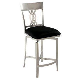 Chintaly Angelina Swirl Back Memory Swivel Counter Stool   Bar Stools