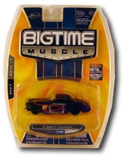 Jada Dub City Big Time Muscle Purple Racing 1957 Chevy Corvette 164 Scale Die Cast Car Toys & Games