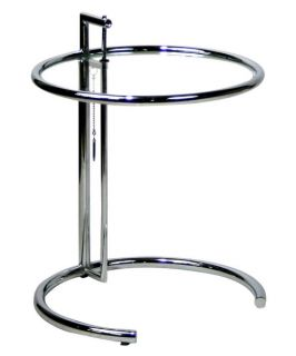Modway Eileen Gray Round Metal Side Table with Glass Top   End Tables