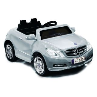 Kid Motorz Mercedes Benz E550 Car Battery Powered Riding Toy   Silver   Battery Powered Riding Toys