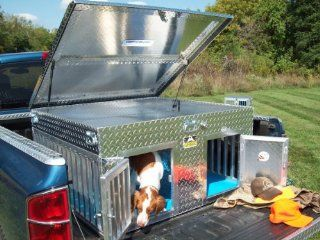 Unique Truck SB4846T Summer Two Dog Box with Top Storage   Lidded Home Storage Bins
