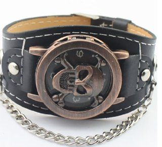 Bemaystar Super Cool Skull Shaped Alloy Watch(Brown) Watches