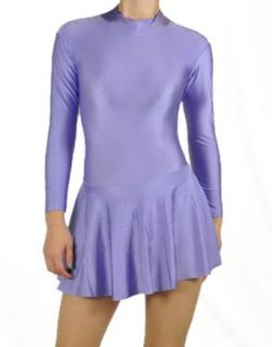 Lavender Spandex Ice & Figure Skating Leotard Dress 2X Clothing