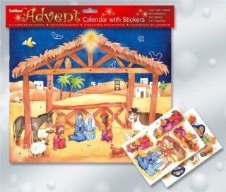 Nativity with Stickers Advent Calendar (C852) Holiday Decor Advent Calendars Kitchen & Dining