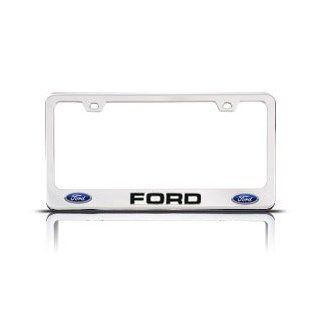 Chrome FORD License Plate Frame with 2 Bolt Screws and 2 Bolt Screw Covers Automotive