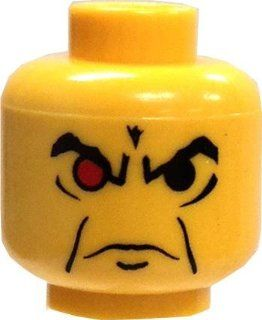 LEGO LOOSE HEAD Yellow Male with Angry Eyebrows & One Red Eye Toys & Games