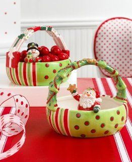 "Fitz and Floyd ""Merry Christmas"" Santa Basket   Christmas Decor"