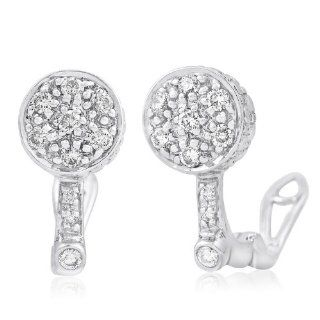 14k WHITE GOLD WOMEN'S EARRING LE 1843 DIAMOND 0.49CT TW Stud Earrings Jewelry