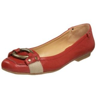 Nine West Women's Swooshy Flats, Red/Natural, 10 M US Shoes