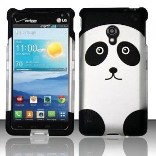 Cell Phone Case Cover Hard Plastic Snap On for LG Lucid 2 VS870 (Verizon)   Cute Panda Bear [In CellCostumes Retail Packaging]