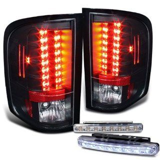 Rxmotoring 09 10 Chevy Silverado 1500 2500 3500 Led Tail Lights + 8 Led Bumper Fog Lamps Automotive