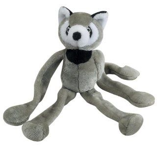 Zanies Polyester Tug n Squeak Buddy Dog Toy, Gray Raccoon, 20 Inch  Pet Squeak Toys
