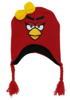 Angry Birds Rovio Red Bird Video Game Toddler Girls Pilot Peruvian Laplander Hat Novelty Knit Caps Clothing