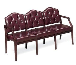 Lesro Ashford Series 3 Seat Reception Chair w/ Tufted Back   Furniture