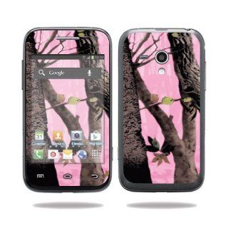 MightySkins Protective Vinyl Skin Decal Cover for Samsung Galaxy Rush Cell Phone M830 Boost Mobile Sticker Skins Pink Tree Camo Computers & Accessories