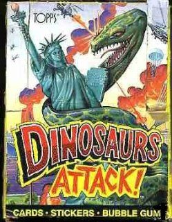 Dinosaurs Attack Trading Cards Box  48 Count Toys & Games