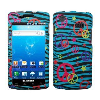 Blue Black Zebra Orange Yellow Pink Purple Colorful Peace Star Rubberized Snap on Design Hard Case Faceplate for Att Samsung Galaxy S Captivate I897 Cell Phones & Accessories