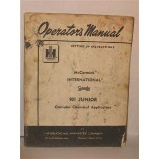International harvester operators manual & setting up instructions McCormick Interantional Gandy 901 junior granular chemical applicator by International harvester International harvester Books