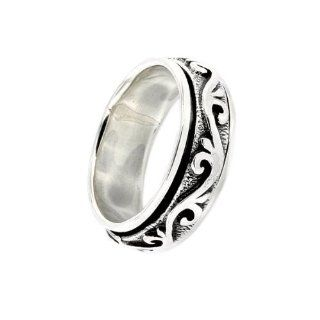 .925 Sterling Silver Mens Celtic Irish Band Ring (8) Jewelry
