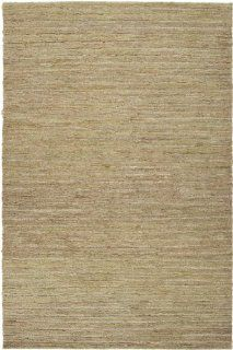 8' x 11' Serat Rami Beige and Sage Green Hand Woven Hemp Area Throw Rug   Handmade Rugs