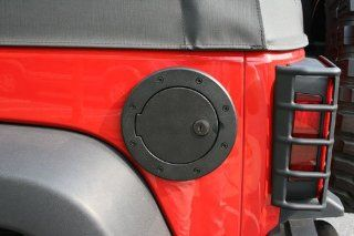 Rugged Ridge 11425.06 Black Aluminum Locking Fuel Door Cover Automotive