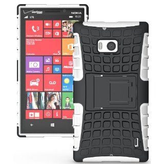 NAKEDCELLPHONE WHITE GRENADE RUGGED TPU SKIN HARD CASE COVER STAND FOR VERIZON NOKIA LUMIA 929 ICON PHONE Cell Phones & Accessories