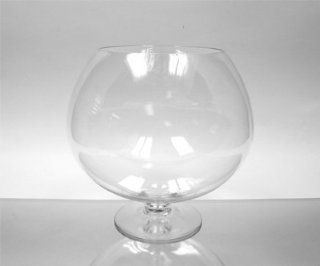 "Clear Stem Bowl Glass Vase / Candle Holder. Open 8"". Height 12"". Wholesale Lot (2pcs) VBW0912   Decorative Vases"