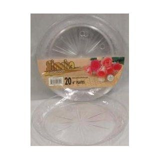 6 INCH CLEAR PLASTIC PLATES SUPER DELUXE 240CS