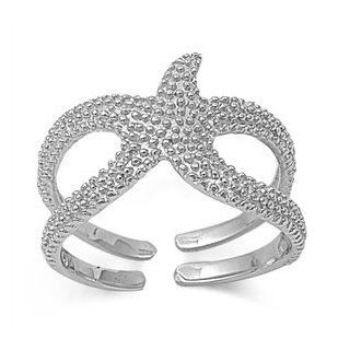 Sterling Silver Starfish Ring   Sterling Silver Sea Star Ring Jewelry