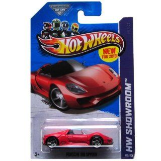 Hot Wheels HW Showroom 175/250 Red Porsche 918 Spyder Toys & Games