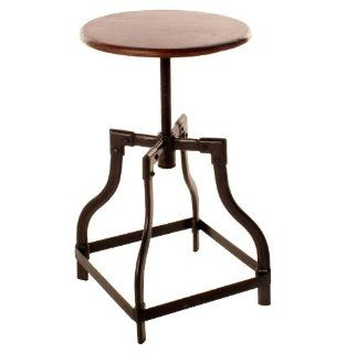 Reclaimed Teak Wood Adjustable Height Piano Stool   Barstools